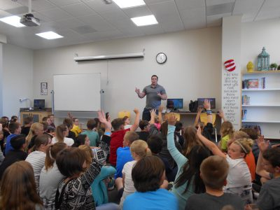 Sam Ferguson presents at Blackridge Elementary